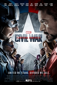 Captain America: Civil War movie poster thumbnail link to detail view